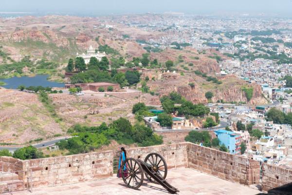 Blick vom Mehrangarh Fort