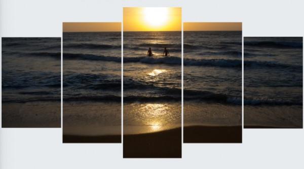 Mehrteiler - Sonnenuntergang in Kalutara