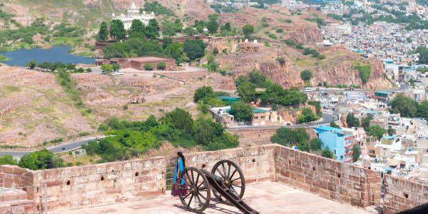 Panoramabild - Blick vom Mehrangarh Forth in Jodpur