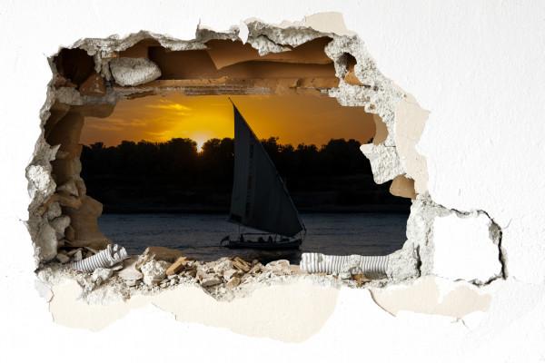 Wandtattoo - Sonnenuntergang auf dem Nil