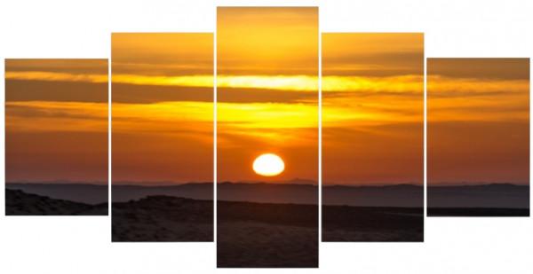 Mehrteiler - Sonnenaufgang in der Wüste