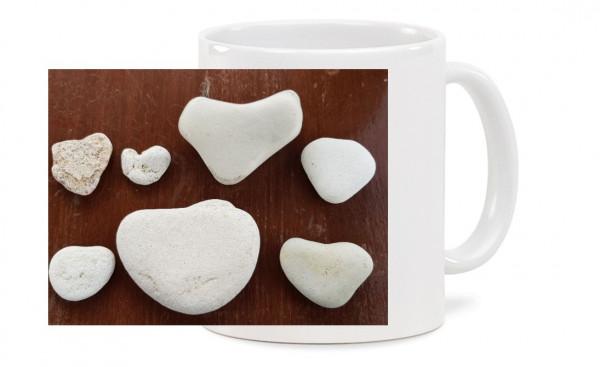 Fototasse - Herzen aus Stein