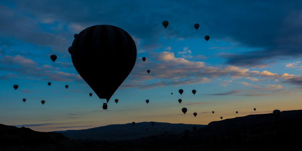 Panoramabild - Ballonfahrt in Kapadokien