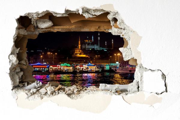 Wandtattoo - Istanbul bei Nacht
