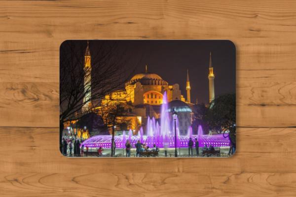 Fotomousepad - Hagia Sophia bei Nacht