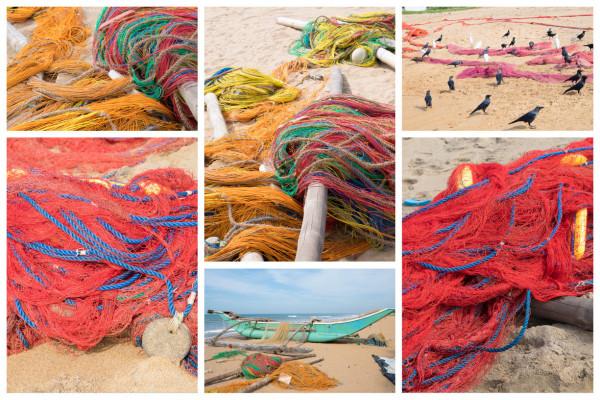 Fischernetze auf Sri Lanka