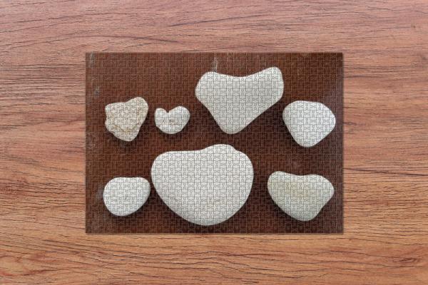 Fotopuzzle - Herzen aus Stein