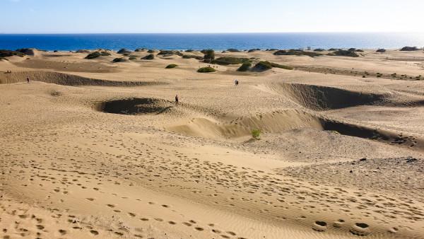 Sanddünen in Maspalomas auf Gran Canaria