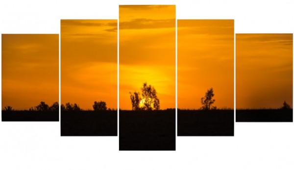 Mehrteiler - Sonnenuntergang in Marokko