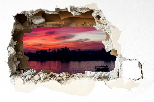 Wandtattoo - Sonnenuntergang auf dem Nil 2