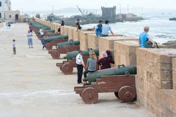 Essaouira - Hafenmauer