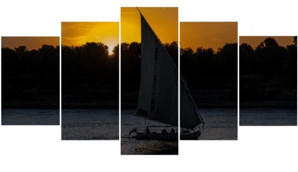 Mehrteiler - Sonnenuntergang auf dem Nil