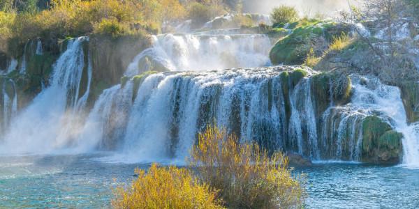 Panoramabild - Wasserfälle von Krka