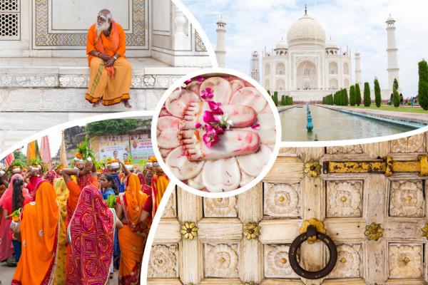 Collage vielfältiges Indien