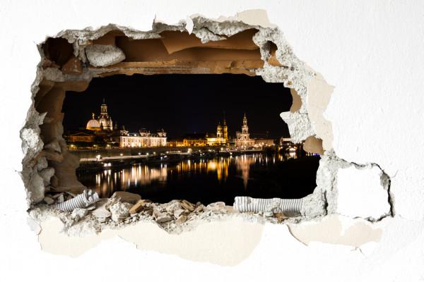 Wandtattoo - Dresden bei Nacht
