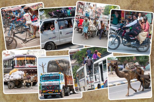 Collage Indische Fahrzeuge