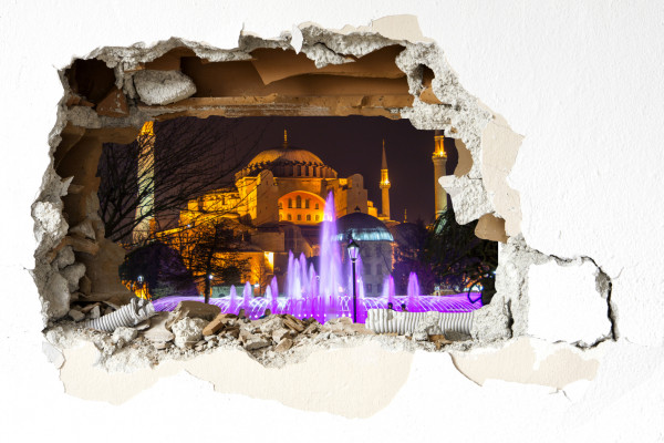Wandtattoo - Hagia Sophia bei Nacht