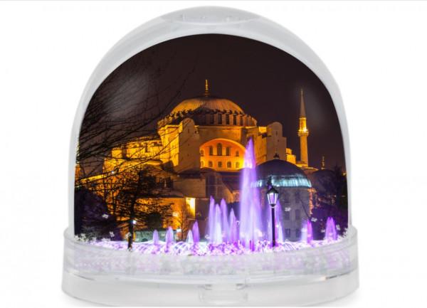 Fotokugel - Hagia Sophia bei Nacht