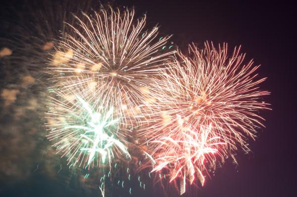 Japanisches Feuerwerk in Düsseldorf