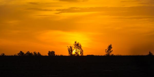 Panoramabild - Sonnenuntergang in Marokko