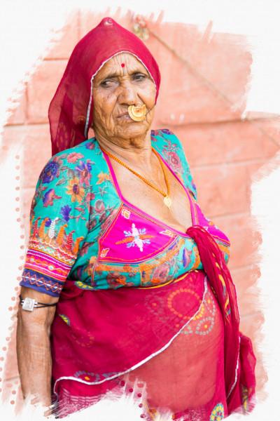 Alte indische Frau
