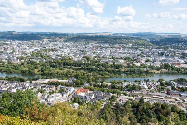 Blick von der Mariensäule auf Trier