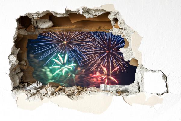 Wandtattoo - Feuerwerk