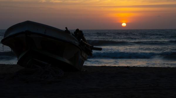 Sonnenuntergang am Strand von Kalutara