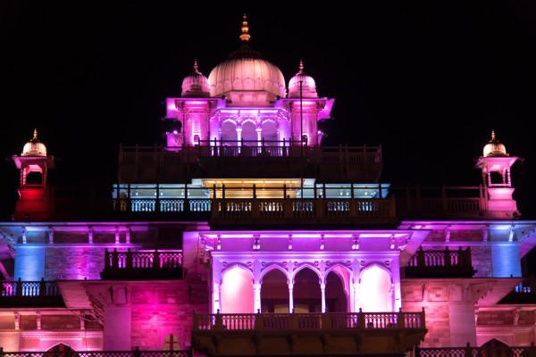 Central Museum in Jaipur bei Nacht