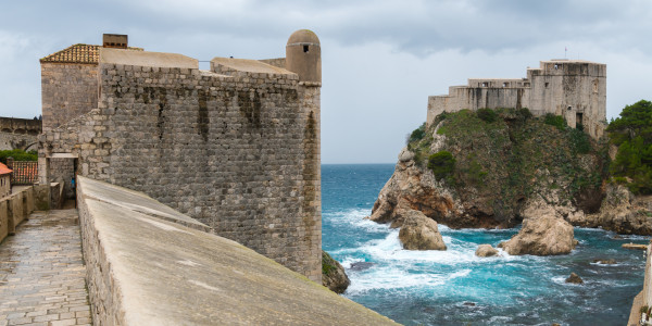 Panoramabild - Stadtmauer von Dubrovnik