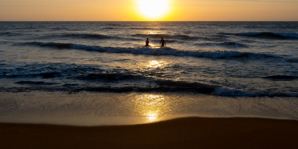 Panoramabild - Sonnenuntergang in Kalutara auf Sri Lanka
