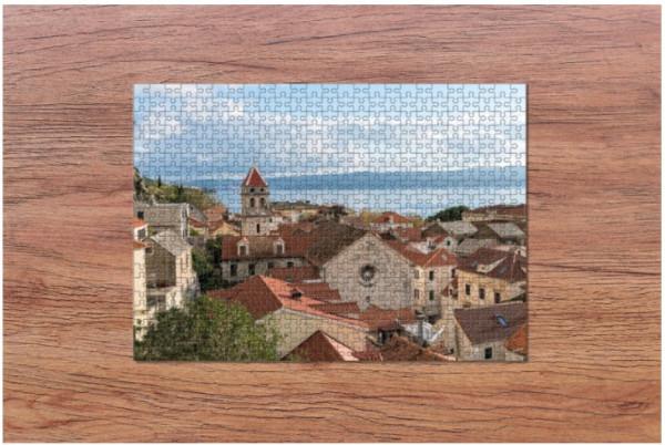 Fotopuzzle - Blick auf Omis in Kroatien