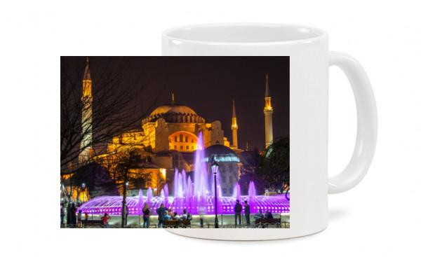 Fototasse - Hagia Sophia bei Nacht
