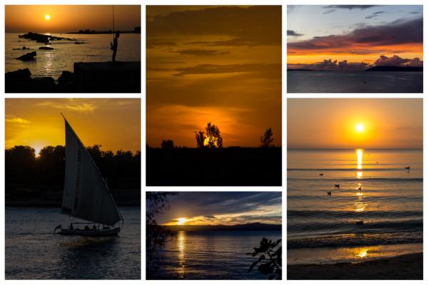 Sonnenuntergänge Collage