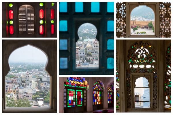 Collage Indische Fenster