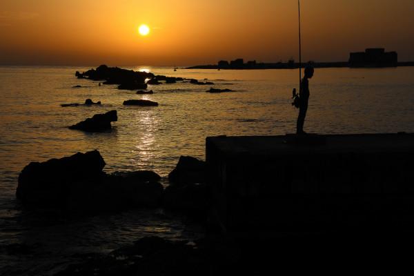Sonnenuntergang Hafen von Paphos