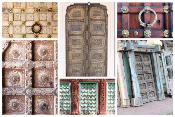 Collage Indische Türen
