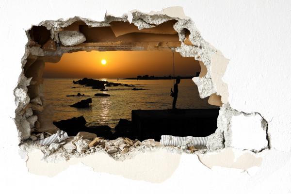 Wandtattoo - Sonnenuntergang im Hafen von Paphos